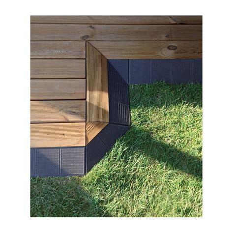 xtiles terrasse bordure clipsable xtiles brun pin du nord autoclave