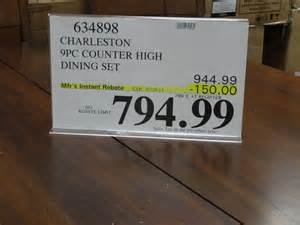 piece dining set counter height: piece dining set counter height charleston piece counter height