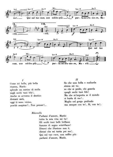 testo parlami d mari parlami d mari 217 sheet guitar chords lyrics