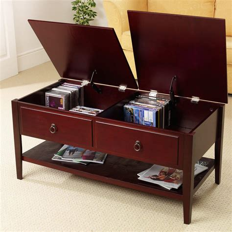 Coffee Storage Tables Mahogany Coffee Tables With Storage Coffee Table Design Ideas