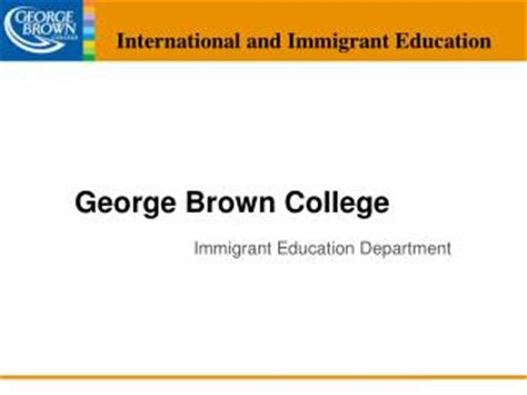 George Brown College Mba Fees by Ppt Working With Interpreters At George Brown College