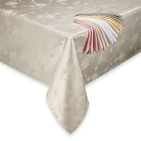 bed bath beyond tablecloths spring meadow damask tablecloth bed bath beyond