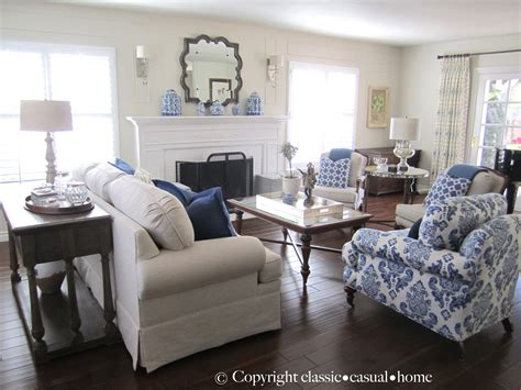 blue and white living rooms classic casual home blue white and silver timeless
