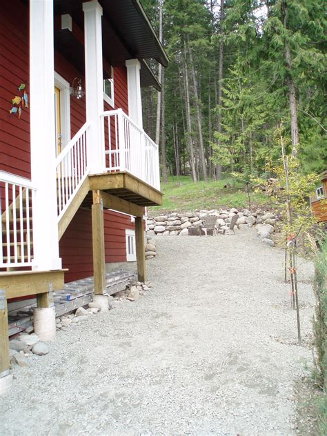 House With Front Porch backporch fire pit area moyie lake house