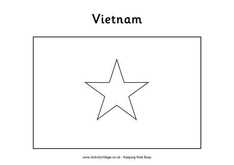 vietnam flag colouring page
