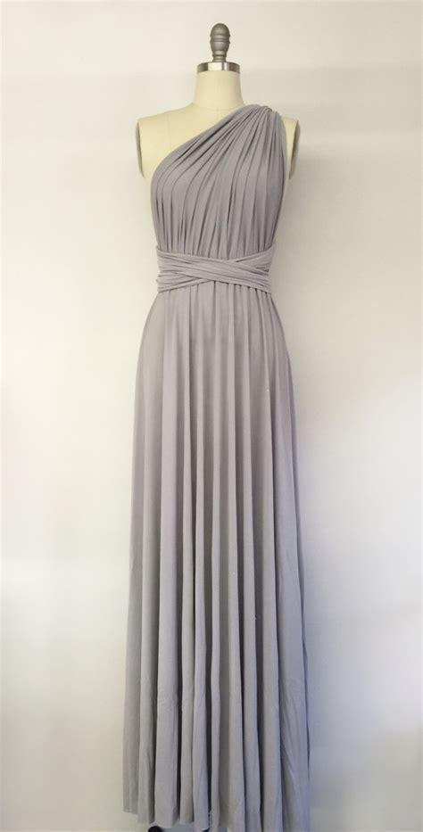 light grey formal dress silver light grey long maxi infinity dress gown by atomattire