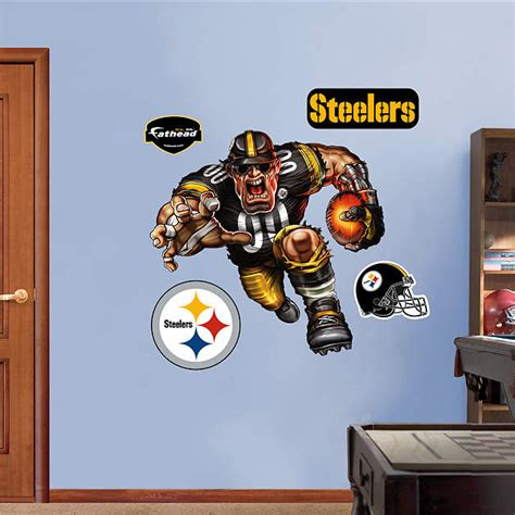 Steelers Decor by Steamroller Steeler Wall Decal Shop Fathead 174 For