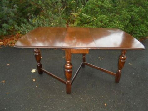 antique oak drop leaf dining table kitchen seat peopl and