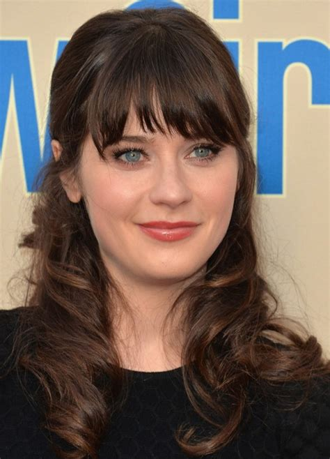 half up half down hairstyles without bangs 27 zooey deschanel hairstyles pictures of zooey s