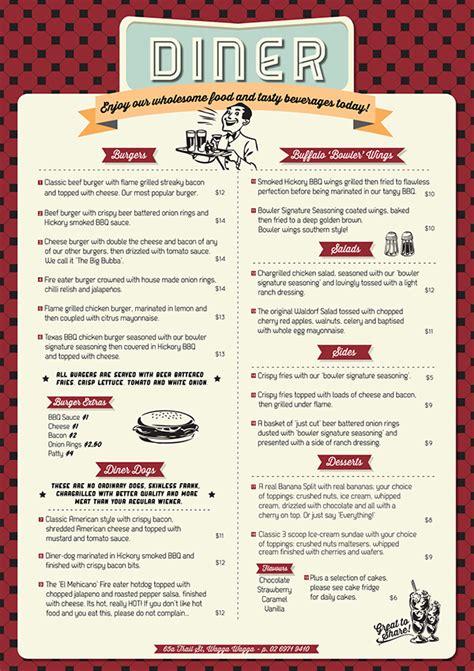 Menu Design Vorlagen free menu templates diner restaurant menu template all