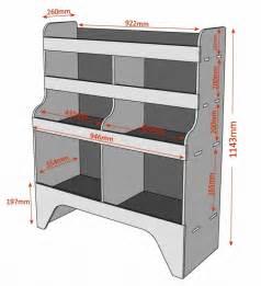 transporter regale citroen berlingo plywood racking shelving unit wr11