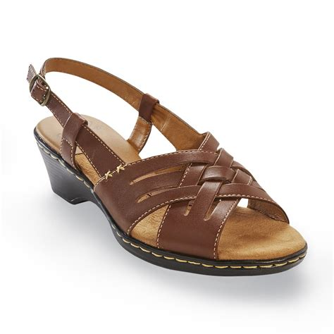 i love comfort sandals i love comfort women s nell brown leather slingback sandal