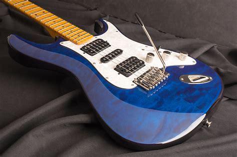 Gitar Dean Zelinsky Tagliare Quilt Top Maplle dean zelinsky guitars tagliare z glide custom quilt top reverb