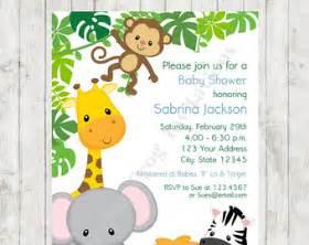 baby shower animal invitations theruntime