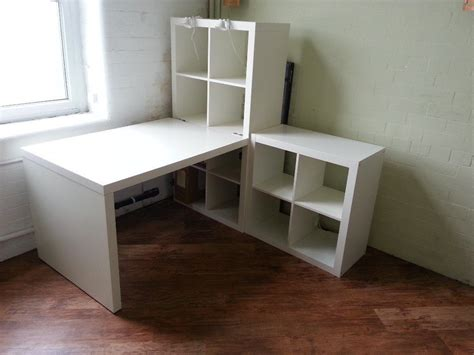 escritorio kallax ikea kallax desk and shelving units including work lights