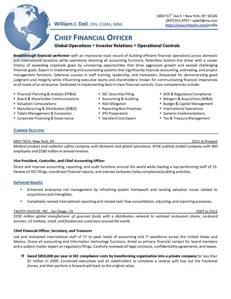 chief financial officer resume udgereport821 web fc2