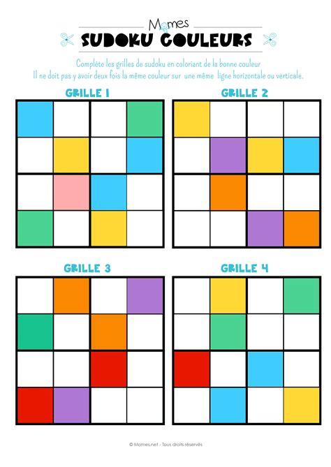 Grille Sudoku Net by Sudoku Des Couleurs Momes Net