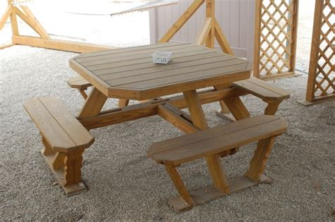 square picnic table with 4 how to build square wood picnic table plans pdf plans