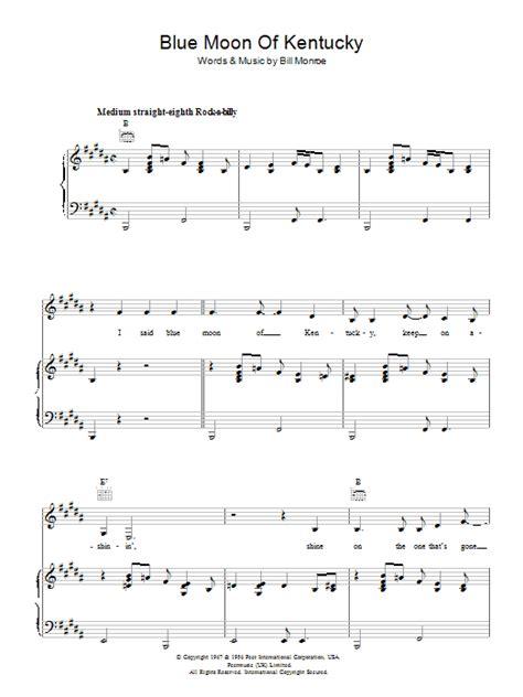 blue song ukulele blue moon of kentucky sheet direct