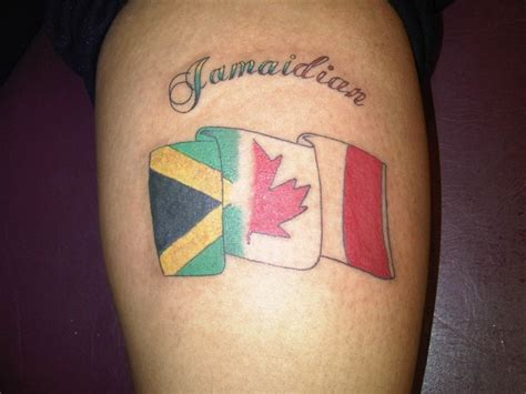 flash tattoo jamaica canadian jamaican jamaidian tattoos pinterest