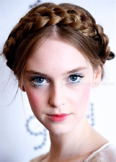 hair stlyes for a double crown braided hairstyles crown braid trendy hairstyles for