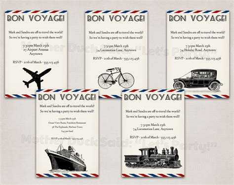 bon voyage invitation templates free duck said quot lets quot february 2012