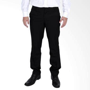 Celana Bahan Hitam Pria jual elfs shop slimfit twist celana bahan formal pria hitam harga kualitas terjamin