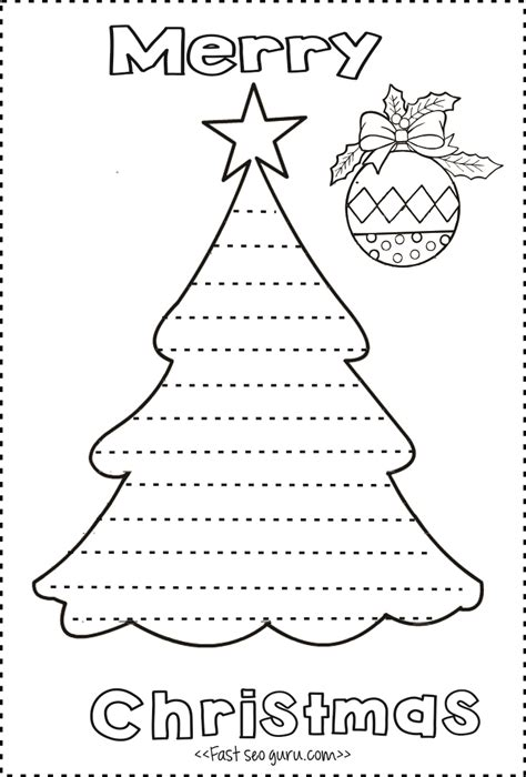 Print Out Christmas Tree Write A Letter Template To Santa Claus Merry Business Letter Template