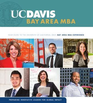 Best Part Time Mba In Bay Area by 2013 Bay Area Mba By Uc Davis Graduate School Of