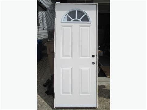 Insulated Metal Exterior Doors Steel Insulated 32 X 80 Quot Sunburst Quot Entry Door With Frame