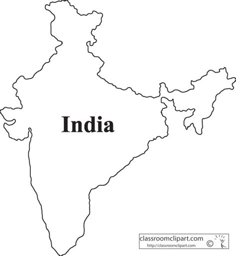 Photo Of Outline Map Of India by India Map Clipart
