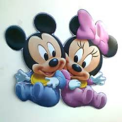 Removable Wall Stickers Uk large baby minnie amp mickey mouse wall sticker minnie