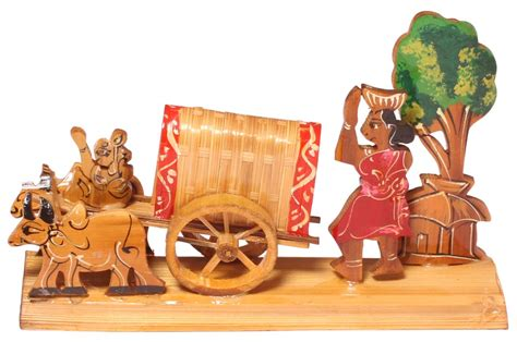 Home Decor Gifts India by Decorative Showpiece Of A Bullock Cart Handcrafted In Bamboo Unique Interior Decorating