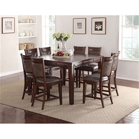 audrey counter height table and chairs 9 piece dining set