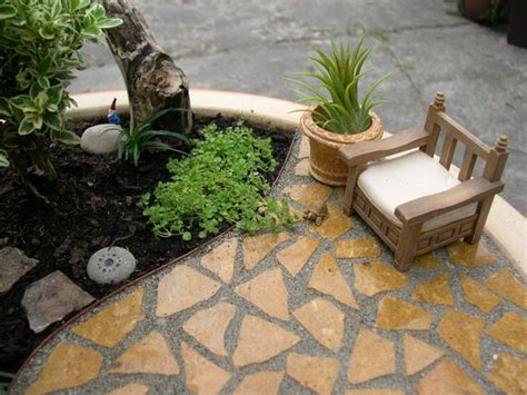 mini patio mix kit for miniature gardens or gnome by