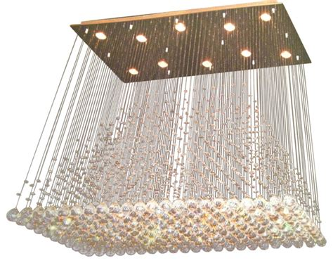 Rectangular Shaped Chandeliers Adele 11 Light Contemporary Chandelier Rectangular Shape Chrome Finish Contemporary