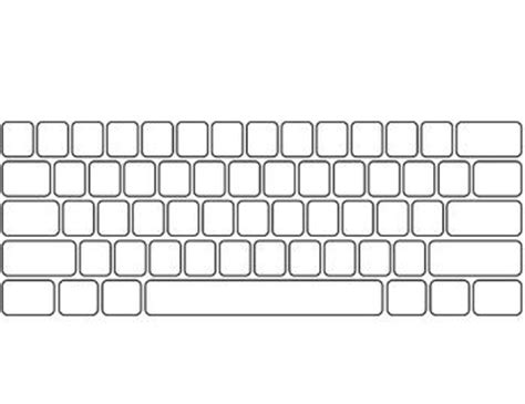 Blank Keyboard Template Printable worksheets blank keyboard template printable chicochino