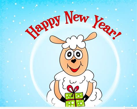 cartoon happy  year wishes