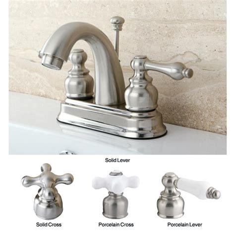satin nickel classic handle bathroom faucet