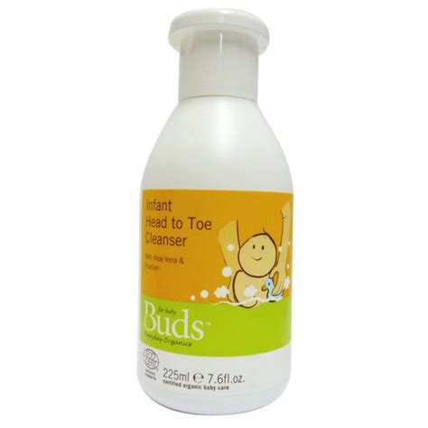 Buds Everyday To Toe Cleanser 225 Ml T2909 buds organics infant to toe cleanser 225ml