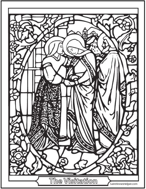 21  Stained Glass Coloring Pages & Church Windows