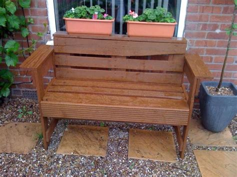 bench made out of pallets pin by bonni mctighe on garden ideas pinterest
