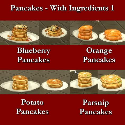 Custom Food mod the sims custom food pancakes with ingredients 1