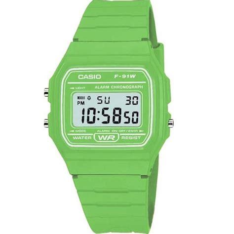 casio f 91wc 3aef classic digital retro lcd green