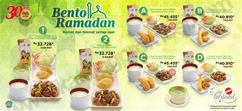 Paket Ramadhan 2 buka puasa mengenyangkan di hokben bento ramadan daftar