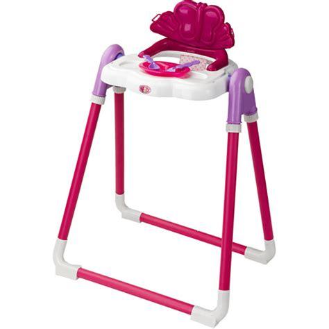 Baby Born Doll High Chair by Badger Basket Modern Doll High Chair With Feeding