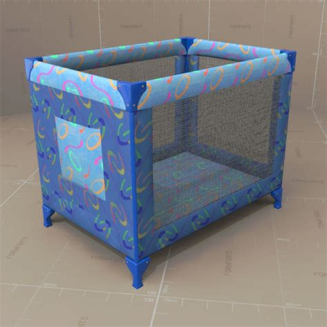 Pack And Play As A Crib by Packnplay Crib 3d Model Formfonts 3d Models Textures