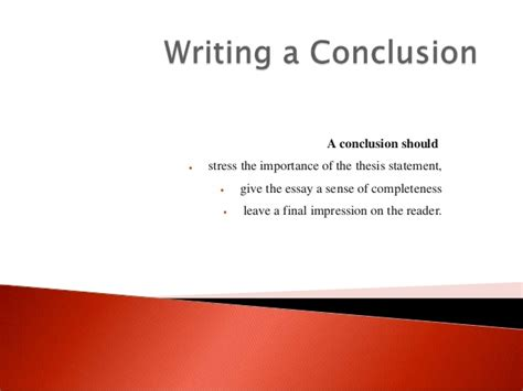 how to write a conclusion for a paper ideas for writing a conclusion