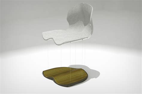 Magnet Chair by Floating Ferromagnetic Furniture Yanko Design