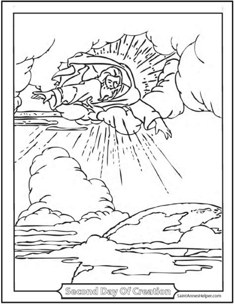 creation coloring page god   firmament